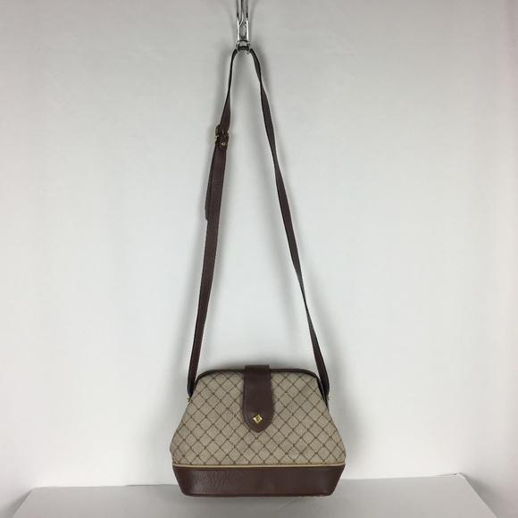 Bally Handbags - Bally Hinged Bag Brown Signature Crossbody Purse